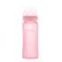 Стеклянная детская бутылочка с силиконовой защитой Everyday Baby 300 мл. Цвет розовый 10248, 7350077262485