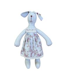 Интерьерная игрушка Прованс Собака девочка в платье Rosettes, 36 см, 4823093403772