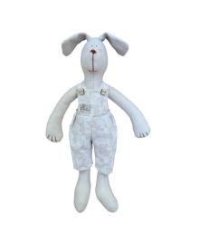 Интерьерная игрушка Прованс Собака мальчик в штанах White Rose, 36 см, 4823093403758