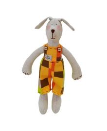 Интерьерная игрушка Прованс Собака в костюме в клеточку, 36 см