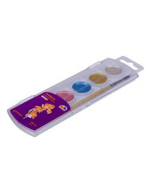 Акварельные краски Гамма с перламутром 6 цветов 400107, 4820219213055