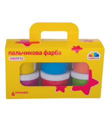 Пальчиковые краски Гамма Малята 6 цветов 100401, 4820219211402