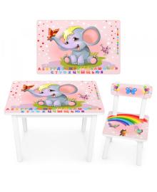 Детский столик BSM2K-47ua со стульчиком, слон