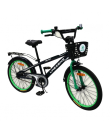LIKE2BIKE Dark Rider Велосипед детский 2-х колес.20'' (черный/зеленый)