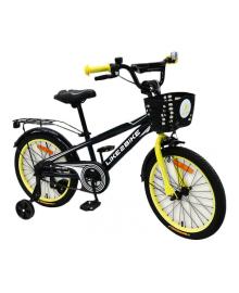 LIKE2BIKE Dark Rider Велосипед детский 2-х колес.18'' (черный/желтый)