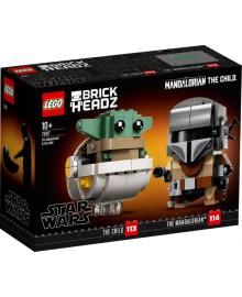 Конструктор LEGO Brick Headz Мандалорец и малыш (75317), 5702016899856