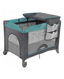 Манеж BabyHit Gray-blue c пеленальным столиком 71711, 2100089752154