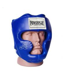 Боксерский шлем тренировочный PowerPlay 3043 cиний S