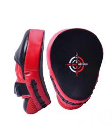 Боксерские лапы PowerPlay 3041 черно-красные PU [пара]