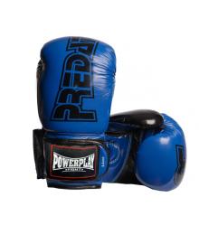Боксерские перчатки PowerPlay 3017 синие карбон 8 унций