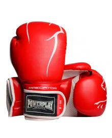 Боксерские перчатки PowerPlay 3018 красные 8 унций