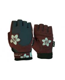 Перчатки для фитнеса PowerPlay 1733 женские коричневые XS
