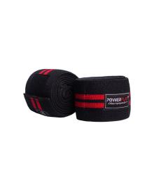 Бинты для коленей PowerPlay 2509 черно-красные PP_2509_Black/Red