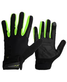 Перчатки для кроссфита с длинным пальцем PowerPlay Hit Full Finger черно-зеленые L