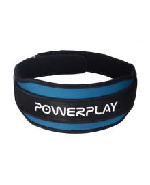Пояс для тяжелой атлетики PowerPlay 5545 сине-черный L PP_5545_L_Blue