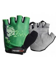Велоперчатки PowerPlay 002 C Зеленые L 002C_L_Green