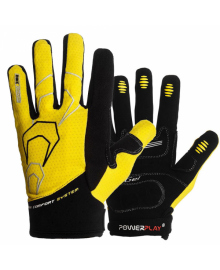 Велоперчатки PowerPlay 6556 Желтые S 6556_S_Yellow