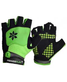 Велоперчатки женские PowerPlay 5284 B Зеленые S