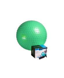 Мяч-массажер для фитнеса и гимнастики PowerPlay 4002 65см зеленый + насос