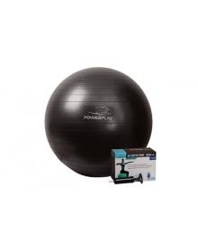 Мяч для фитнеса и гимнастики PowerPlay 4001 65см черный + насос