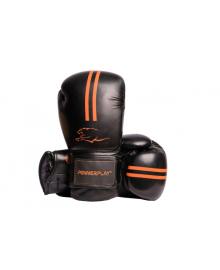 Боксерские перчатки PowerPlay 3016 черно-оранжевый 10 унций