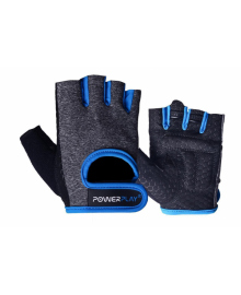Перчатки для фитнеса PowerPlay 2935 женские серо-синие M