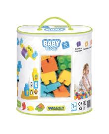 Конструктор Wader Мои первые кубики 30 эл