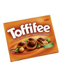 Шоколадные конфеты Storck Toffifee Лесной орех Карамель Нуга Шоколад 125 г 80*0007, 4014400400007