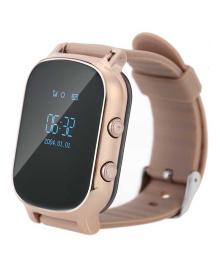 Детские телефон-часы с GPS трекером GOGPS ME К20 Золотые GoGPSme