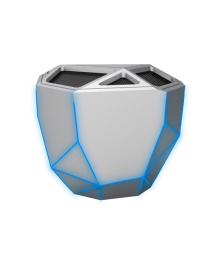 XOOPAR Акустическая система - GEO SPEAKER (серебристая, сын. LED, с Bluetooth, USB-кабелем)