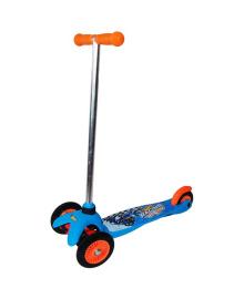 Скутер лицензионный - HOT WHEELS (3-х колесный, 2 колеса впереди, тормоз)