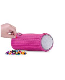 PIXIE CREW Пенал круглый с пикселями (100шт.), цвет поля - насыщенный розовый