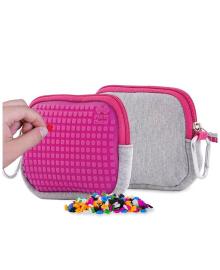 PIXIE CREW Кошелек для мелочей с пикселями (100шт.), цвет поля - насыщенный розовый