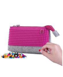 PIXIE CREW Пенал-косметичка с пикселями (100шт.), цвет поля - насыщенный розовый