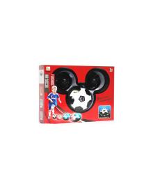 Набор для домашнего футбола - аэромяч с воротами и клюшками -11см- на батарейках RongXin