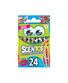 Набор ароматных восковых карандашей-мини - ДРУЖНАЯ КОМПАНИЯ (24 цвета) Scentos
