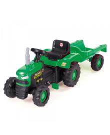 Трактор на педалях DOLU з причіпом (8053) зелений DOLI