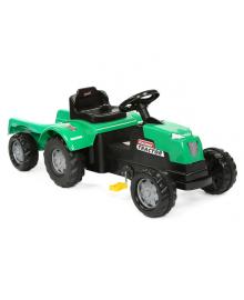 Трактор на педалях SIMSEK з прицепом (8073) зелений