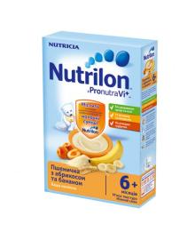Каша молочная Nutrilon Пшеничная с абрикосом и бананом  225 г 586209, 5900852021213, 5900852032530