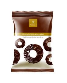 Чипсы яблочные Nobilis в черном шоколаде, 50 г , 5997690714957