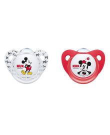 Набор пустышек силиконовых Nuk Trendline Disney Mickey р 2, 2 шт