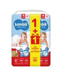 Подгузники Bambik Mega Maxi (7-18 кг) 90 шт 43405500, 4823071642032