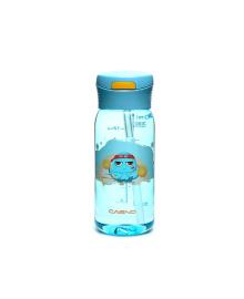 Бутылка для воды CASNO 400 мл KXN-1195 Синяя (осьминог) с соломинкой