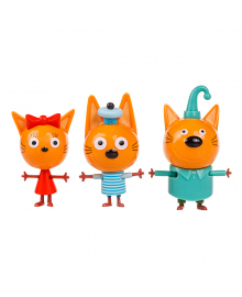 Набор фигурок Три кота Коржик, Карамелька и Компот