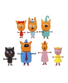Набор фигурок Три кота Коржик, Карамелька, Компот, Мама, Папа, Сажик и Лапочка