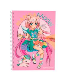 Альбом для раскрашивания MANGA TOP Model Pink 46581, 4010070348458
