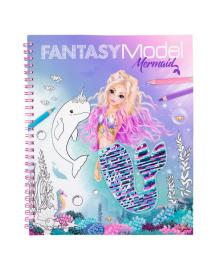 Альбом для раскрашивания с пайетками Fantasy Model Русалочка