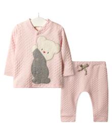 Костюм для девочки 3 в 1 Тедди, розовый Flexi FL217348