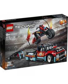 Конструктор Lego Technic Каскадерская Грузовик И Мотоцикл (42106)