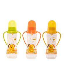 Бутылочка с ручками Baby Team с соской 250 мл (в ассорт.)
